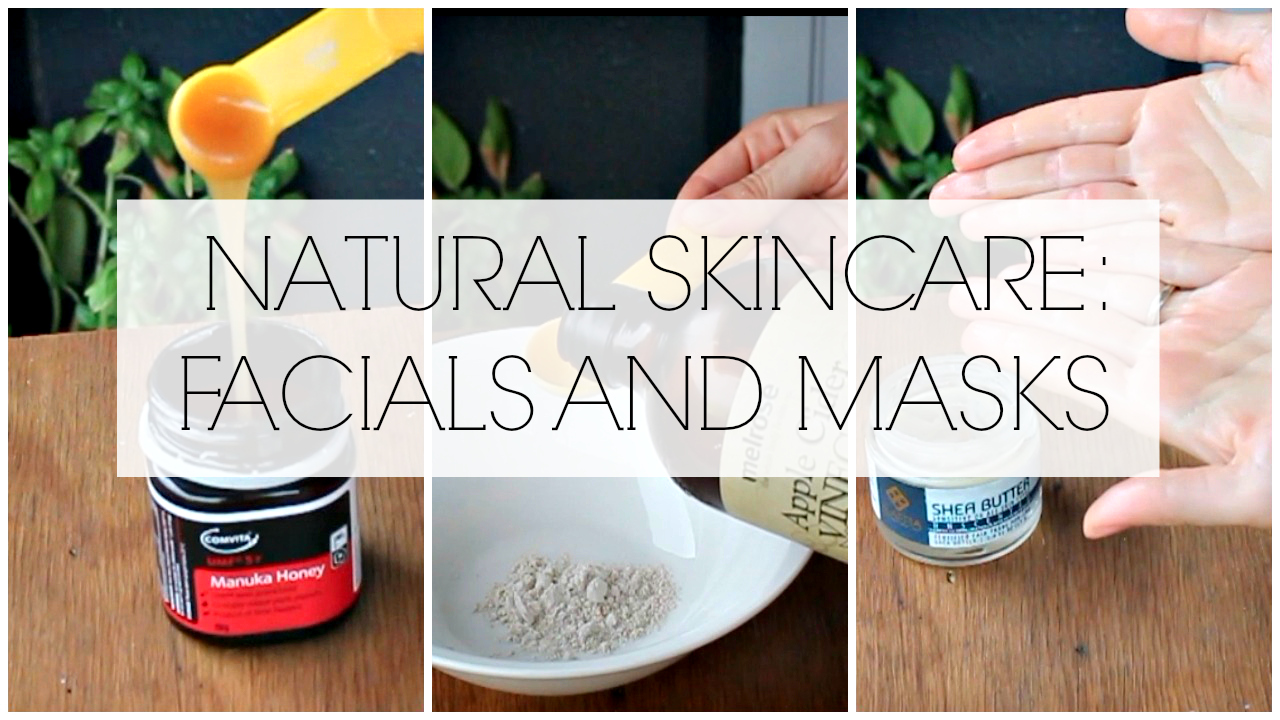 Pictures of natural skin care facials and masks