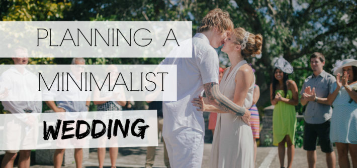 Planning a minimalist wedding